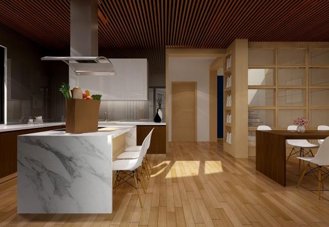 kitchen-marble-island-wooden-floor